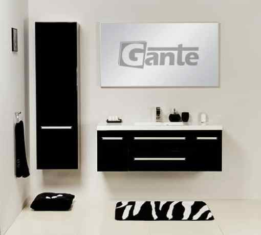 vanity unit 120cm black