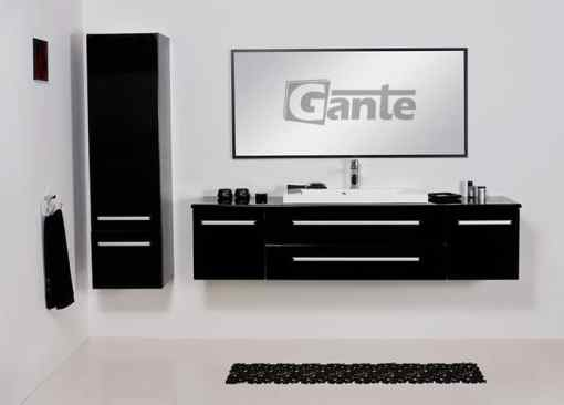 vanity unit black 180cm