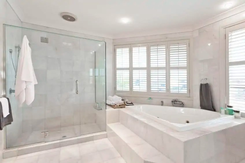 what kinds of bathroom tile are the easiest to clean