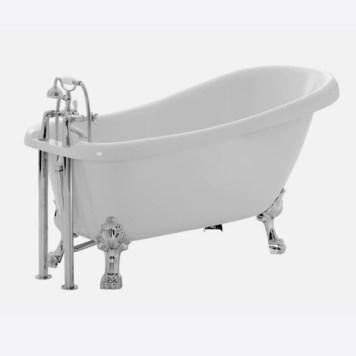 cooke & lewis slipper freestanding duchess bath