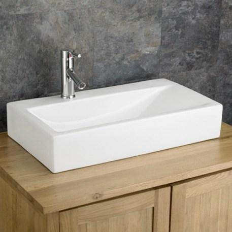 Rectangular altomura countertop basin