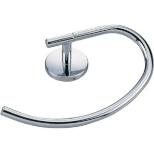 B&Q Curve Chrome Effect Towel Ring (W)214mm