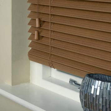 35mm Essence Fauxwood Venetian Blind Amber