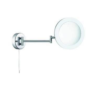Panton Adjustable Bathroom Mirror In Chrome With LED