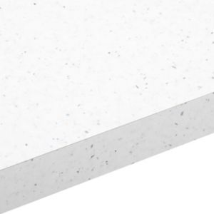 28mm Astral White Gloss Square edge Laminate Worktop (L)2m (D)365mm