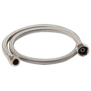 """Flexible tap connector (Dia)15mm (Dia)¾"""" (L)1000mm"""
