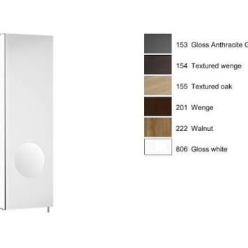 Roca - Luna 200Mm Mirror Cabinet Lh, Integrated Magnifying Mirror - Textured Wenge