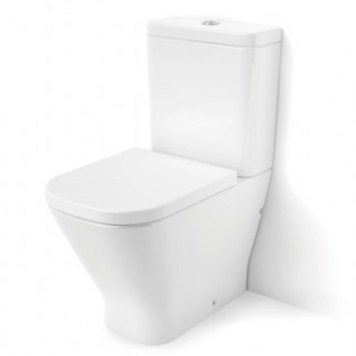 Roca The Gap Rimless (Clean Rim) Close Coupled Toilet Pan