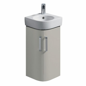 Twyford E200 Vanity Unit For Corner Handrinse Basin 320 X 320- Grey
