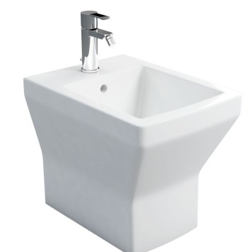 Britton Cube White Back To Wall Bidet