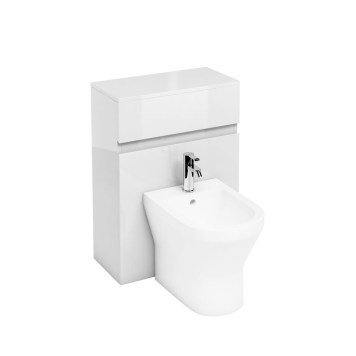 Britton White Back To Wall Bidet Unit