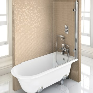 Burlington Hampton Shower Bath RH Freestanding - 1500x 750mm