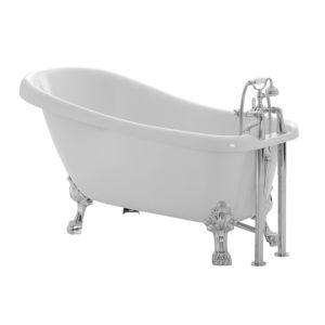 Cooke & Lewis Duchess Acrylic Keyhole Freestanding Bath (L)1700mm (W)630mm