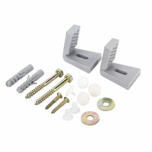 Fischer Silver Nylon & steel Bidet & toilet fixing kit