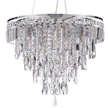 Marquis by Waterford - Bresna LED 6 Light Bathroom Ceiling Pendant - Chrome