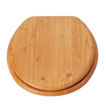 Argos Home Moulded Wood Toilet Seat - Antique Pine Effect