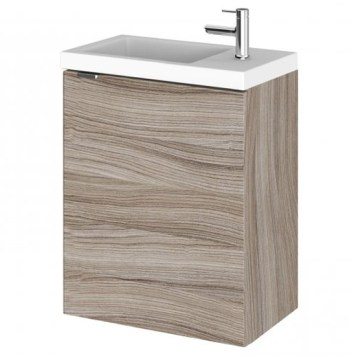 Fuji 40cm Wall Hung Vanity Unit With Basin In Driftwood