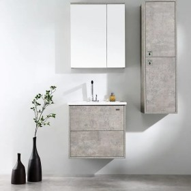 wall hung 600mm vanity in rock cemento