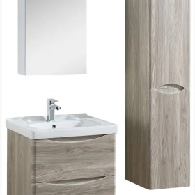 600mm wall hung vanity with ceramic top