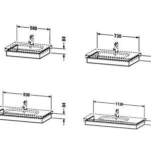 Duravit DuraStyle Washbasin Trim – 1130mm Wide – Graphite Matt