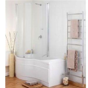 Eastbrook Revised Prado Type 2-1 Easy Clean 2-Fold Bath Screen – Left Handed – Silver