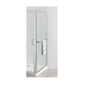 Eastbrook Corniche easy clean side panel with towel rail – 900mm Wide – Silver