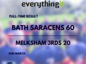 Bath Saracens 60 Melksham 3rds 20 1