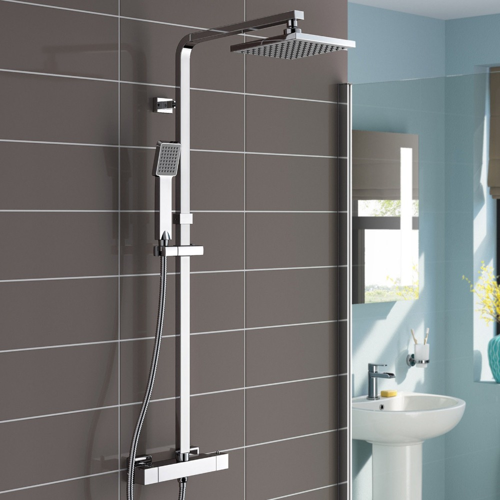 Bathroom Shower Sets Lamia Thermostatic Wall Mount Shower Set