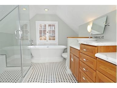 Bathroom with a slanted ceiling  baththings uk