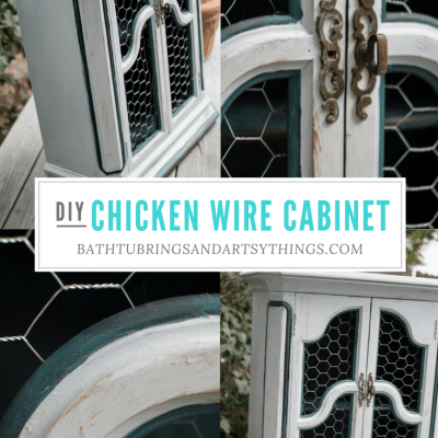 Add Storage to your Kitchen by Creating a Chicken Wire Cabinet
