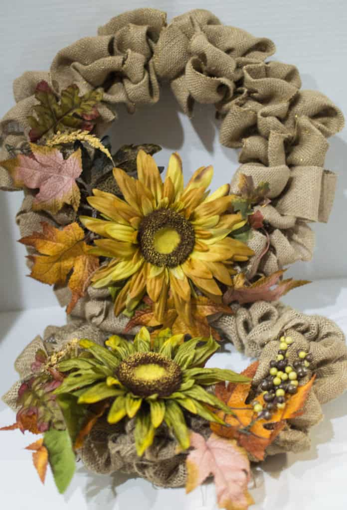 easy fall burlap wreath diy
