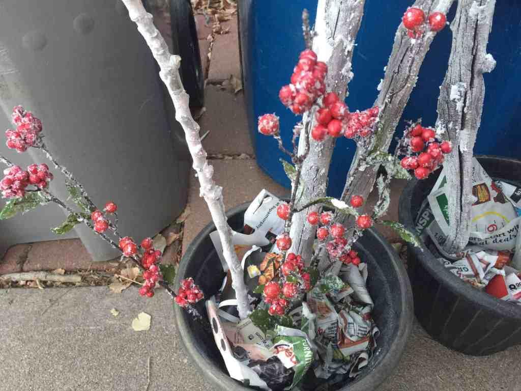 DIY Winter Birch Branch Planter