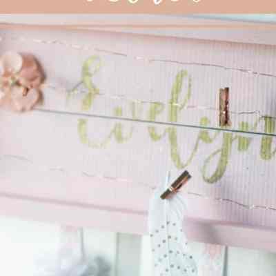 Create a Gorgeous Custom Name Bow Holder with Lights