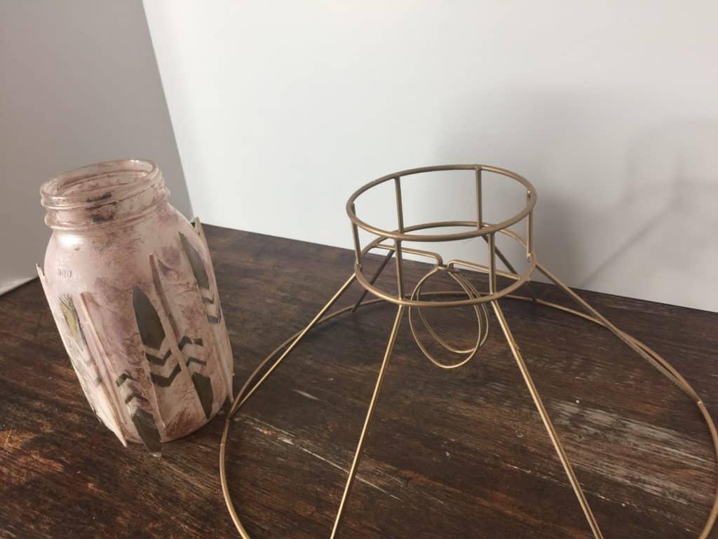 boho style nursery lamp diy