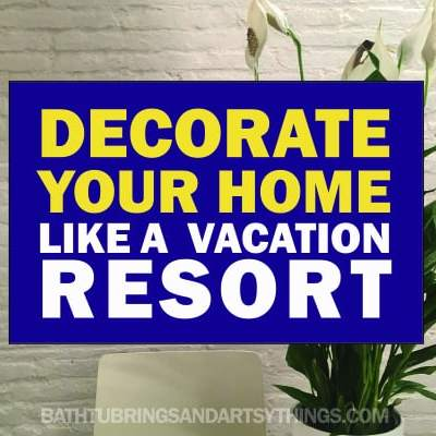 How to make your home feel like a resort when you can not leave for a vacation