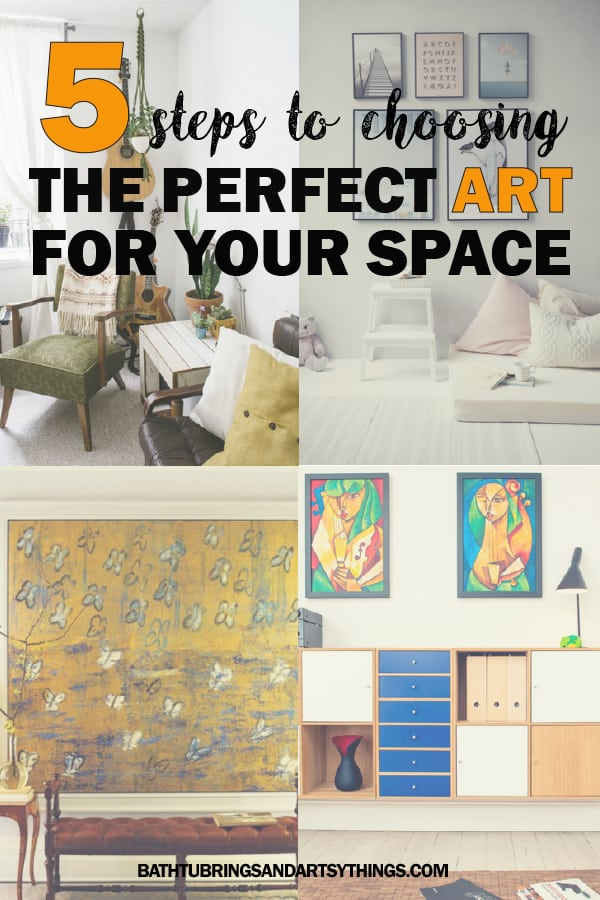 Choosing the perfect art for your space can be hard. These five easy tips will help you to choose art that will pop and show off your unique style!