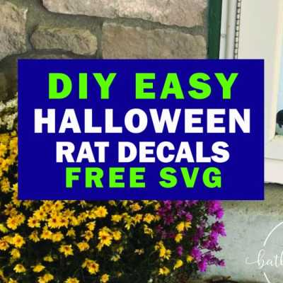 Easy 10 Minute Halloween Rat Decals Free SVG
