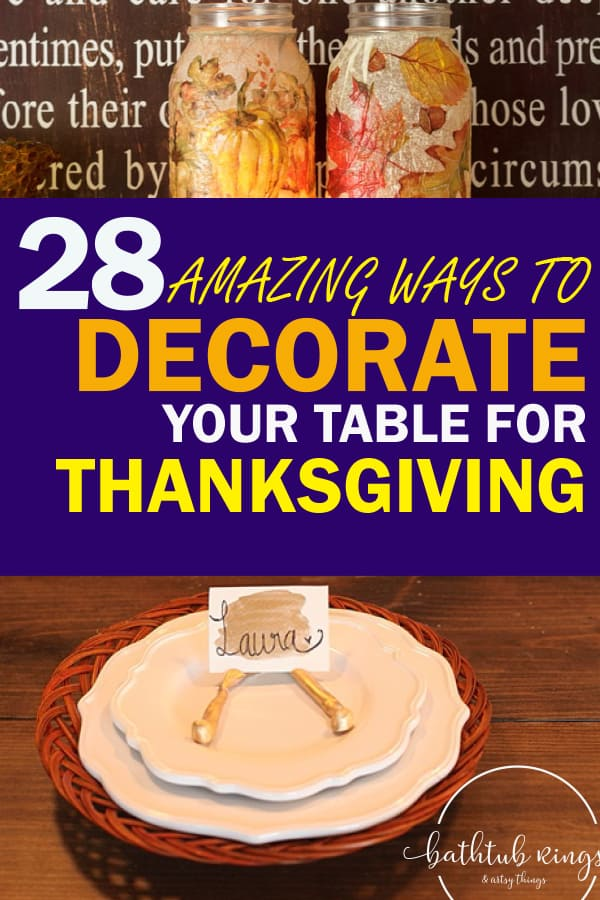 Decorate your table for Thanksgiving with these awesome holiday decorating ideas! Your Thanksgiving will be amazing with the perfect holiday table!
