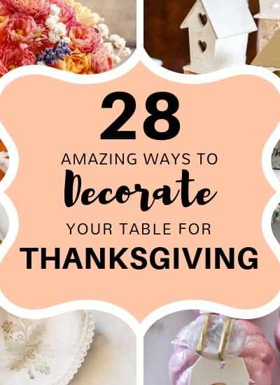 Decorating for Thanksgiving is easy with these easy Thanksgiving table decorating ideas. Create centerpieces and place setting with ease after getting tons of Thanksgiving inspiration.