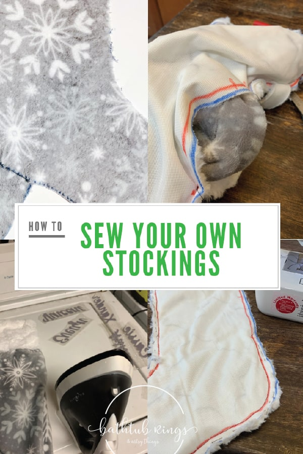 how to sew your own Christmas Stockings. Easy DIY custom stockings that anyone can make!