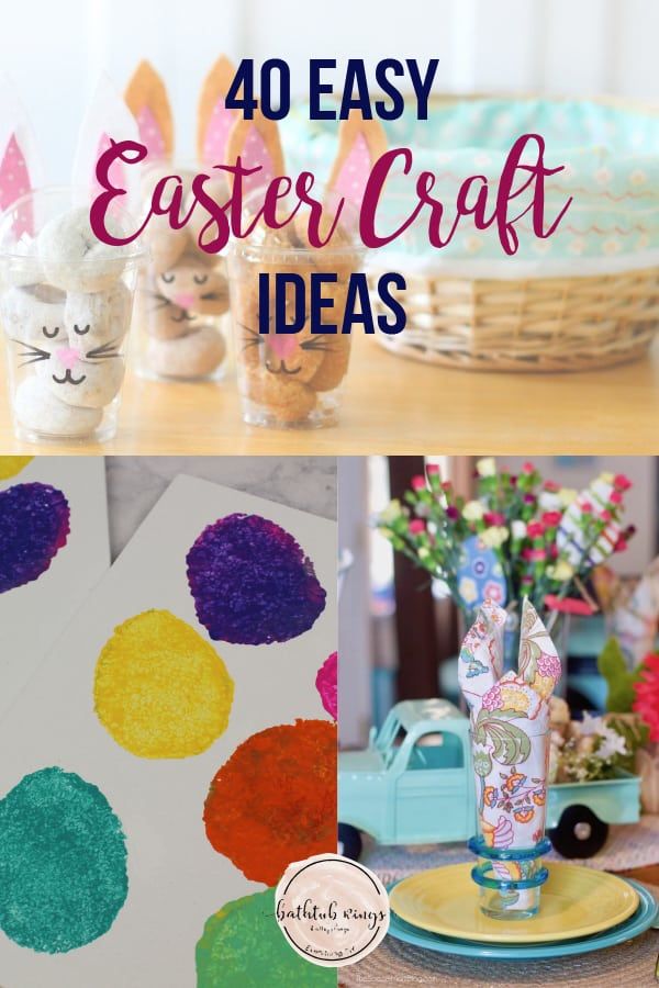 Check out this list of easy Easter crafts that you can do with the entire family. From Easter decorating to dying eggs, this post will get you Easter ready! #eastercrafts #easter