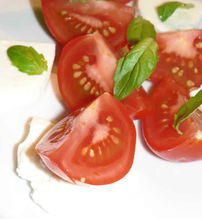 Tomatoes and caprese