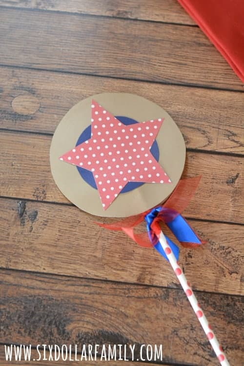 A paper 4th of July star wand.