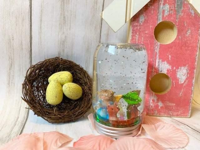 A fairy mason jar glitter globe