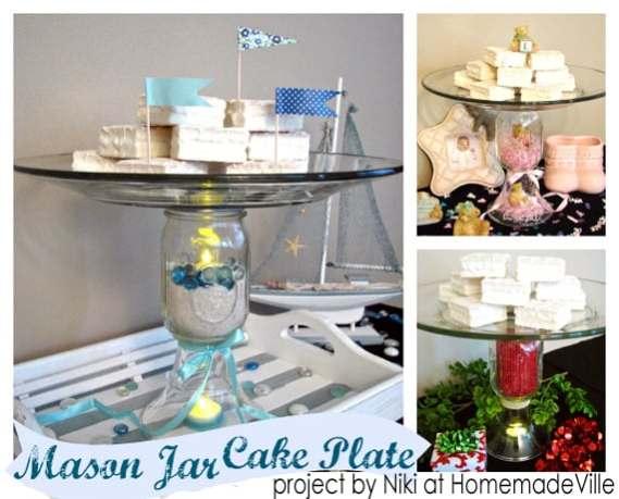 A custom mason jar cake plate.