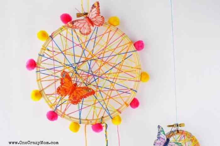 a brightly colored dream catcher for teens