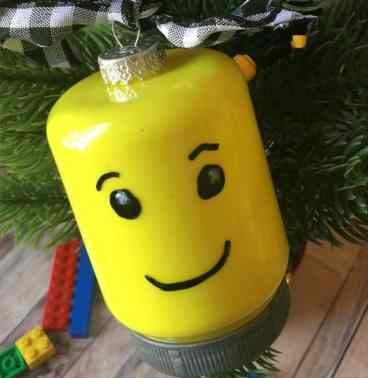 A Lego Minifig head to hang on your tree,
