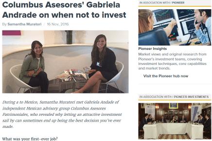 Entrevista de Citywire a nuestra manager de deuda, Gabriela Andrade