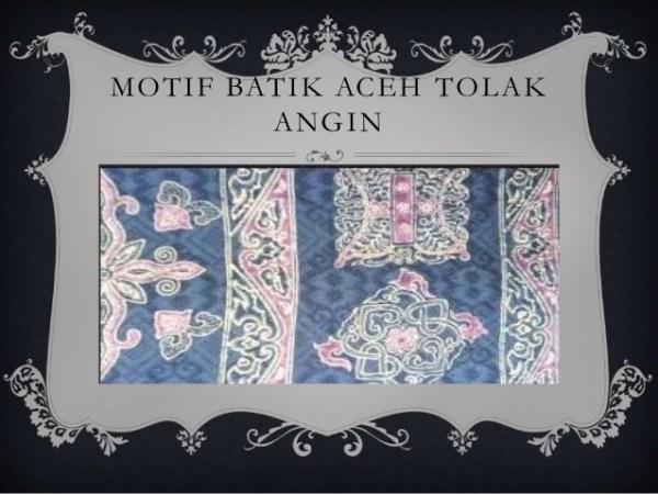 gambar Batik Aceh Motif Tolak Angin