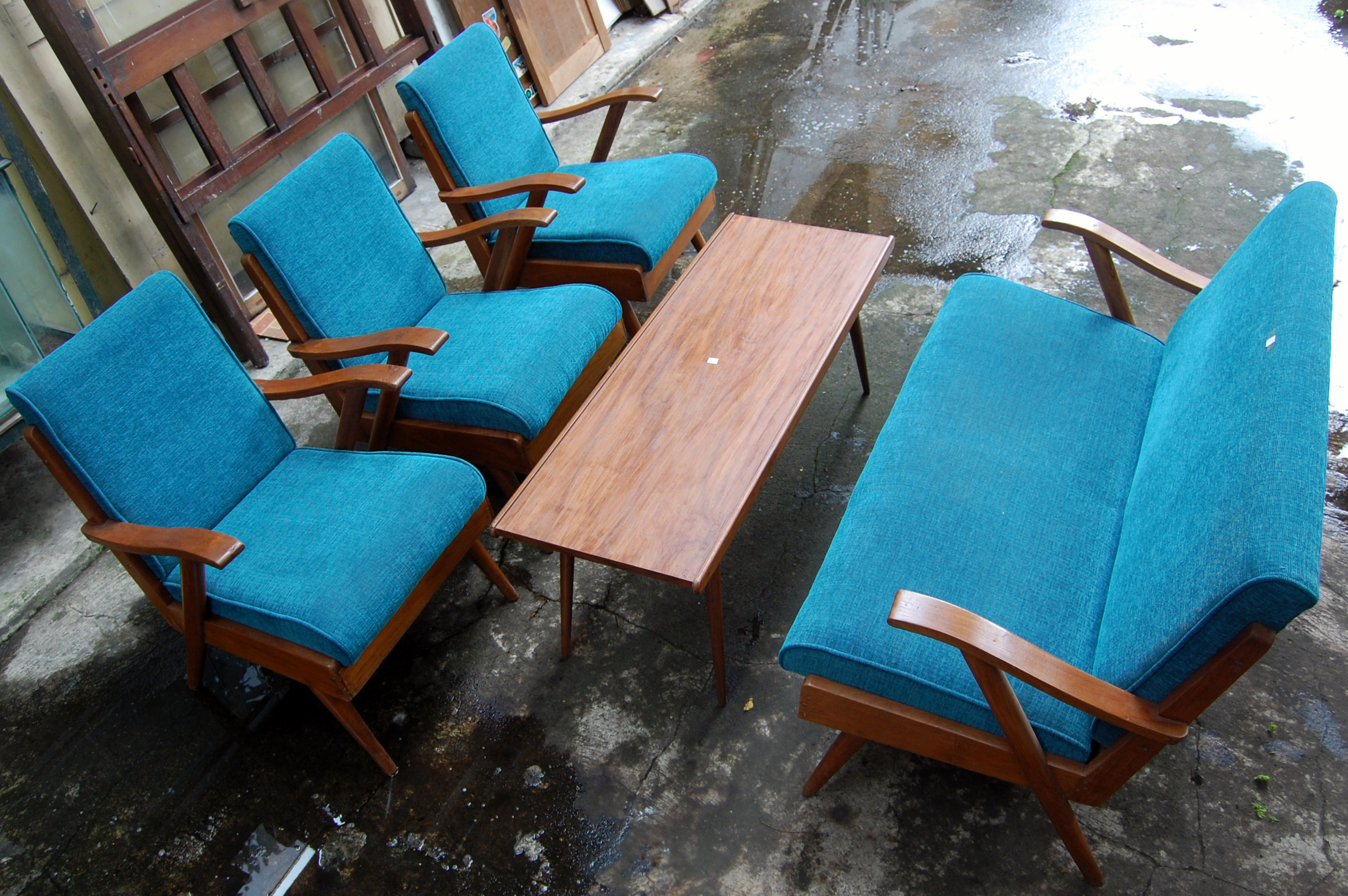 Kursi Jengki Ruang Tamu Biru KJ12BR  Barang Antik